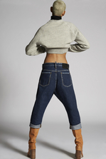 DSQUARED2 Bleached Seams Kawaii Jeans 5 pockets Woman