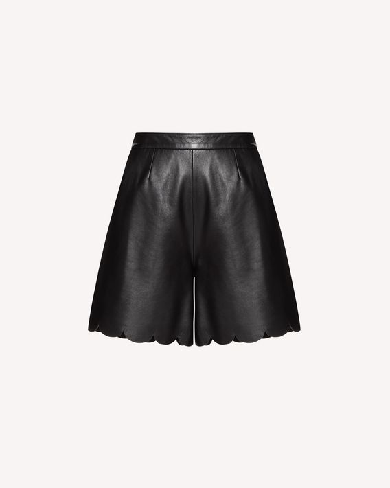 REDValentino Scallop detail leather short