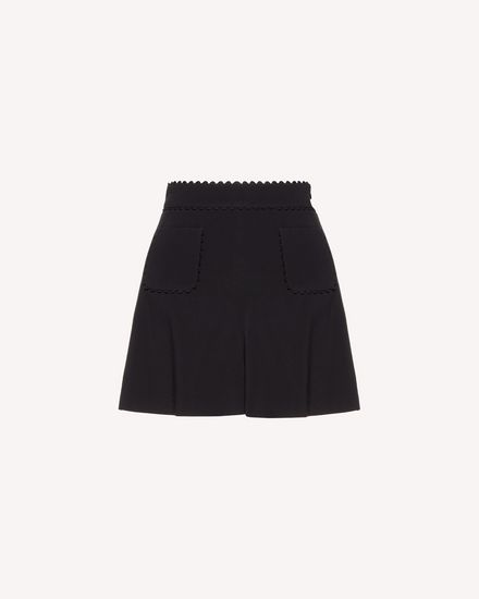 Stretch frisottine shorts with zagana detail