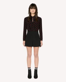 REDValentino Stretch frisottine shorts with zagana detail