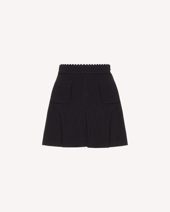 REDValentino Shorts in frisottino stretch con dettaglio zagana