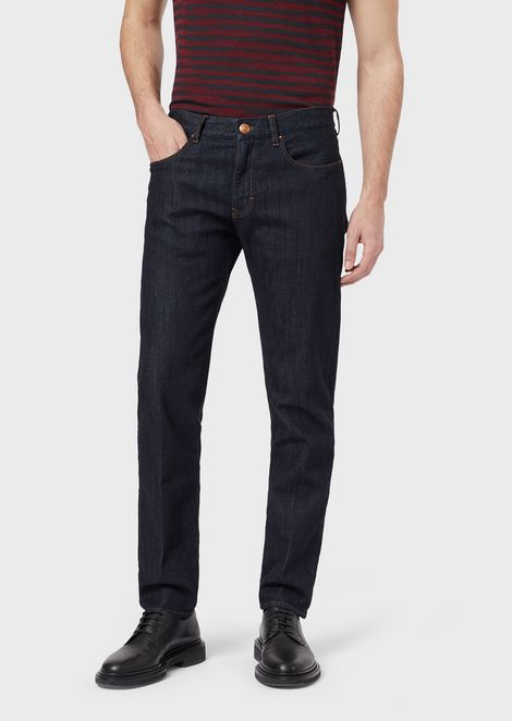 Slim-fit J67 stretch cotton denim jeans