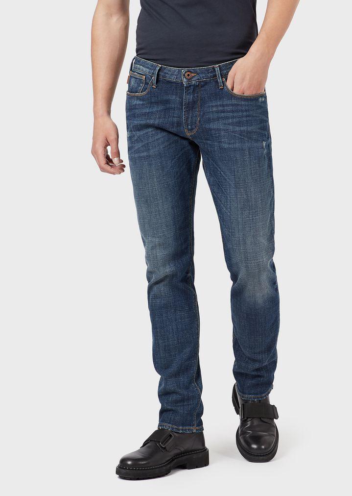 356ed48fd7 Jeans J06 coupe slim en denim confortable avec détails rétro