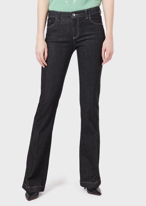 J02 flared jeans in stretch denim