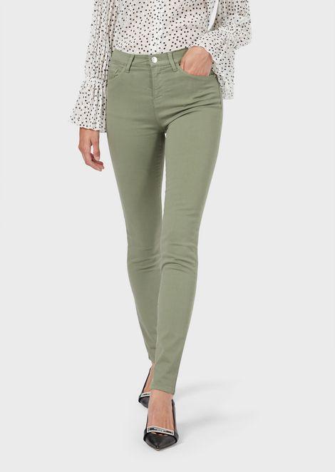 J20 super-skinny jeans in garment-dyed stretch moleskin