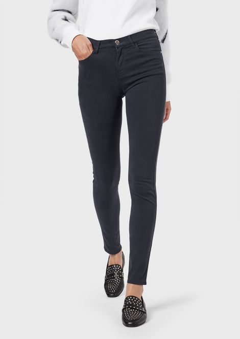 J20 super-skinny jeans in garment-dyed stretch moleskin