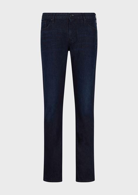 Slim-fit J06 stretch cotton denim jeans