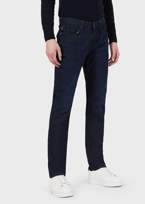 Slim-fit J06 stretch cotton denim jeans