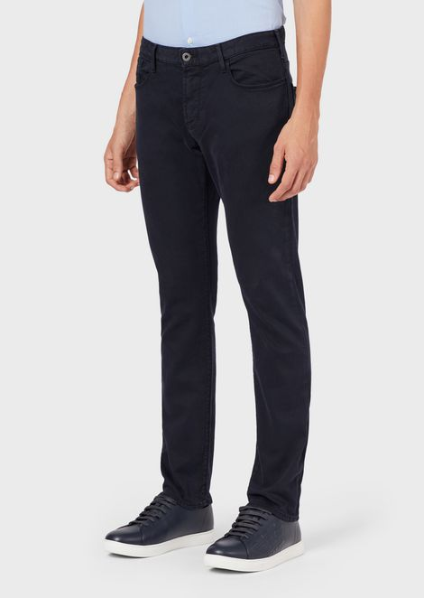 Slim-fit J06 dyed stretch cotton bull jeans