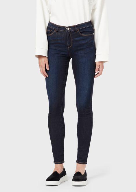 J20 super skinny jeans in stretch denim