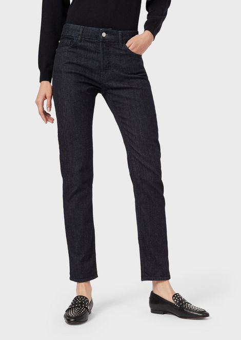 J60 straight-slim jeans in rinse-wash denim