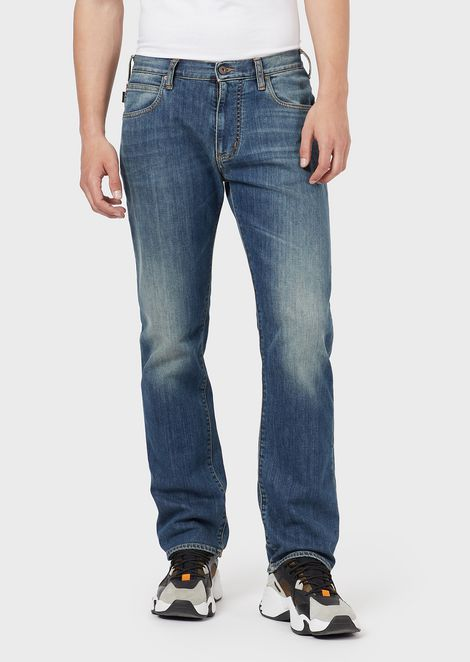 Regular-fit J45 jeans in right-hand comfort denim