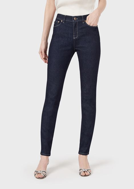 Slim-fit jeans in stretch cotton denim
