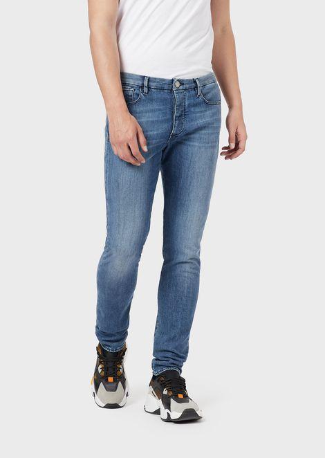 Extra-slim J11 worn denim jeans