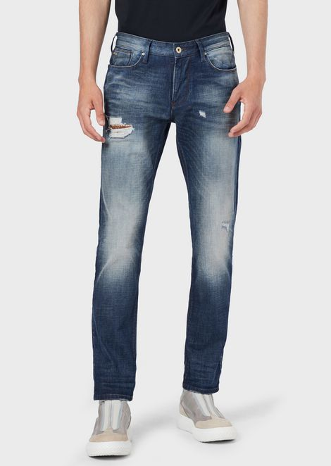 Slim-fit J06 denim jeans with worn details