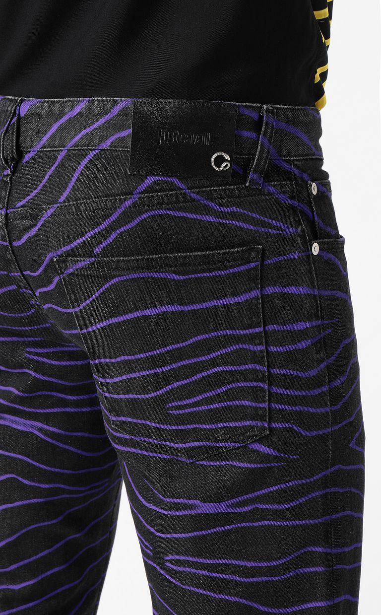 "JUST CAVALLI ""Neon Zebra"" Just-Fit jeans Jeans Man e"