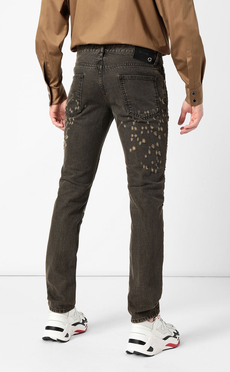JUST CAVALLI Ripped jeans with a Just Fit Jeans Man a