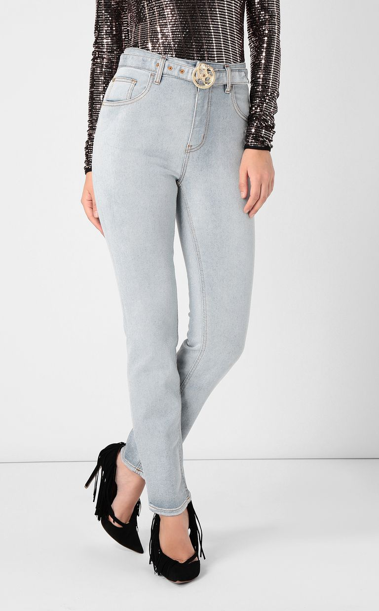 JUST CAVALLI High-rise jeans with belt Jeans Woman r