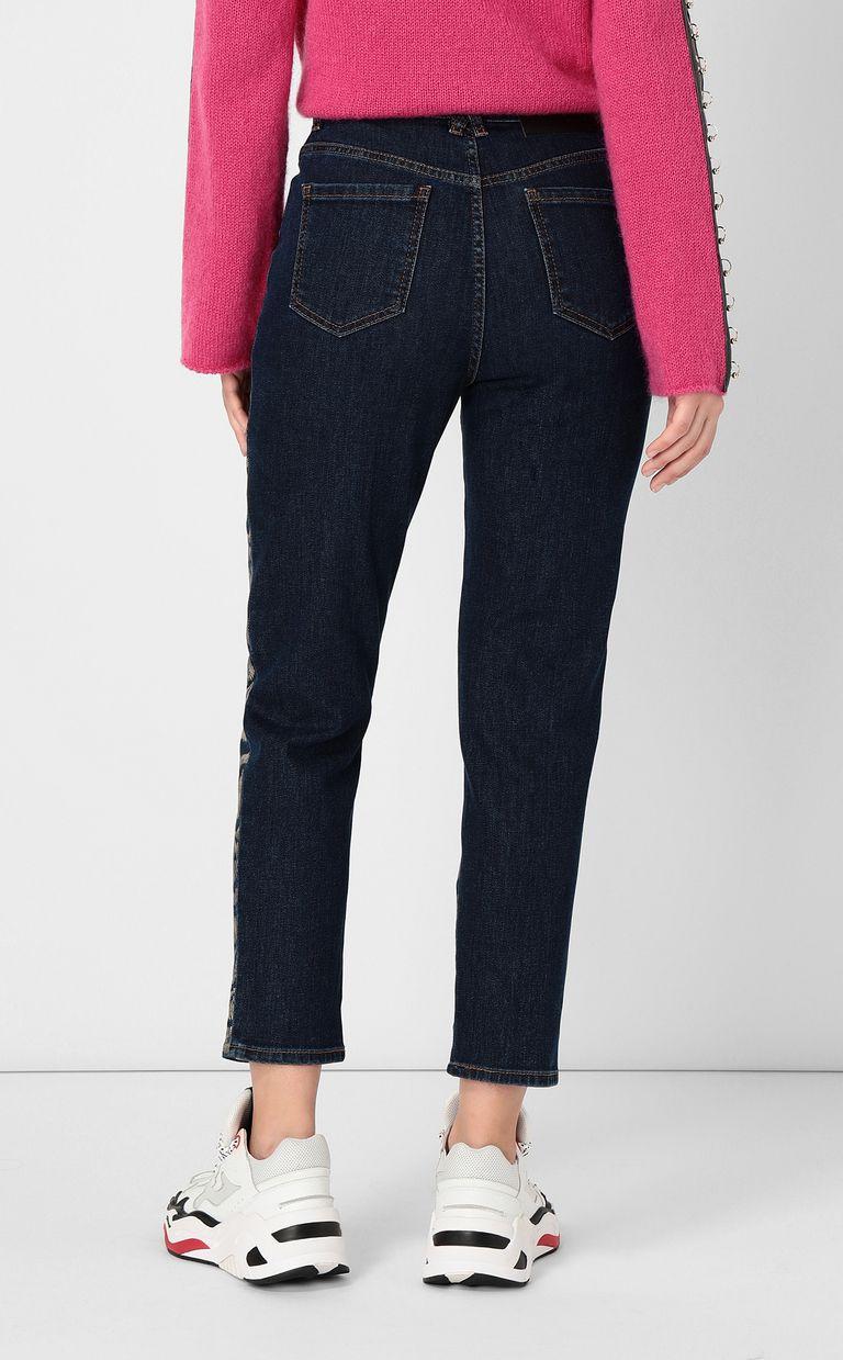 JUST CAVALLI Zebra-stripe boy-fit jeans Jeans Woman a