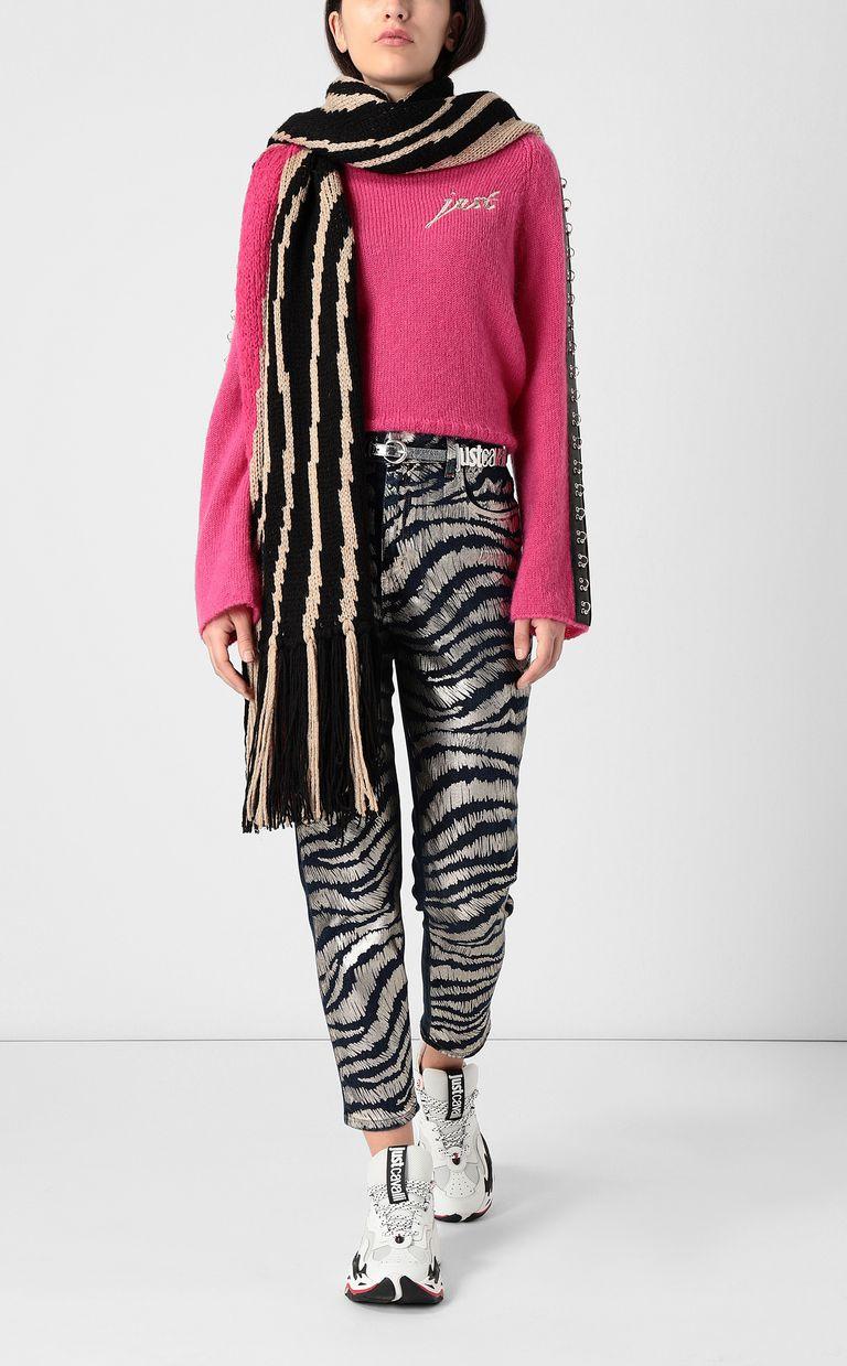 JUST CAVALLI Zebra-stripe boy-fit jeans Jeans Woman d