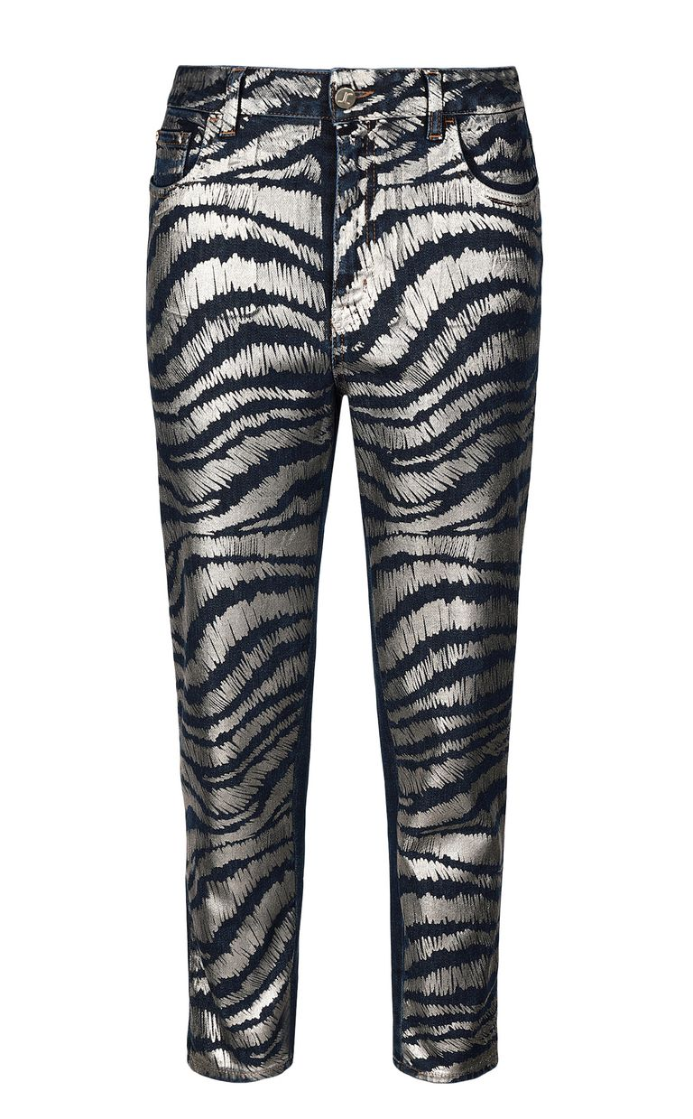 JUST CAVALLI Zebra-stripe boy-fit jeans Jeans Woman f