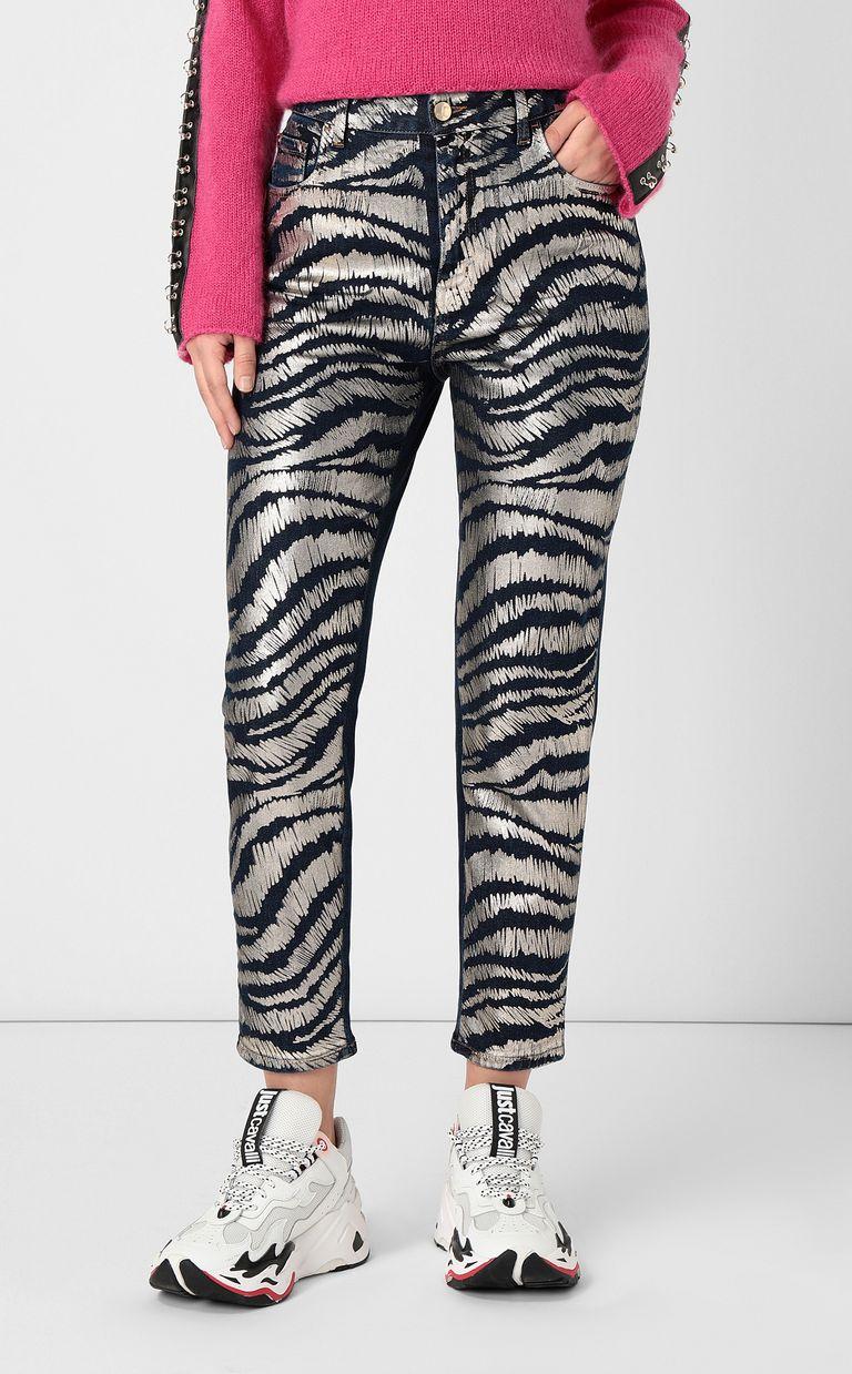 JUST CAVALLI Zebra-stripe boy-fit jeans Jeans Woman r