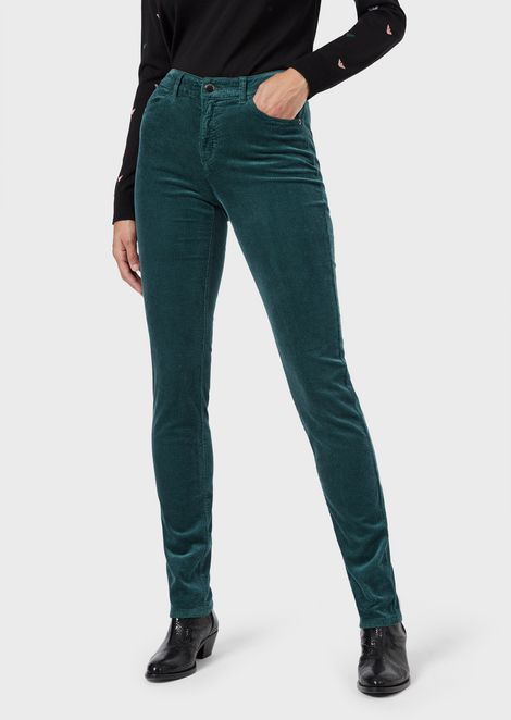 J18 super-skinny fit corduroy trousers