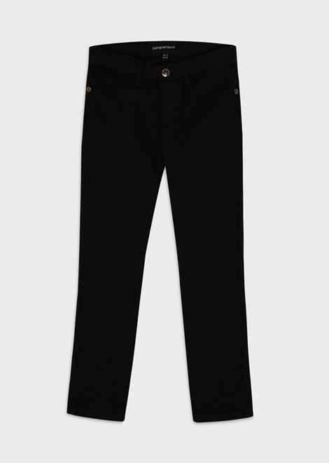 Trousers in cotton gabardine