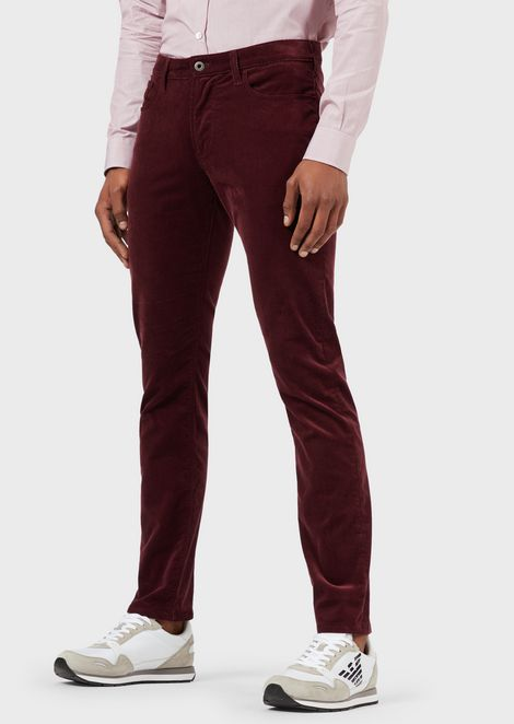 Slim-fit J06 trousers in corduroy