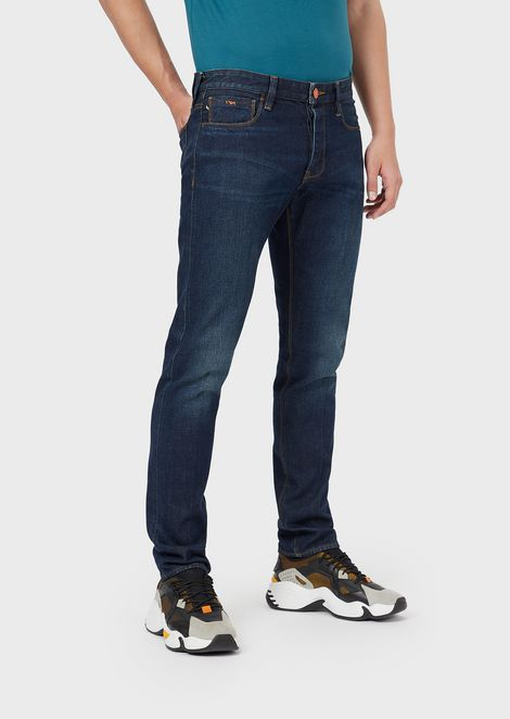 Slim-fit J75 jeans in selvedge denim