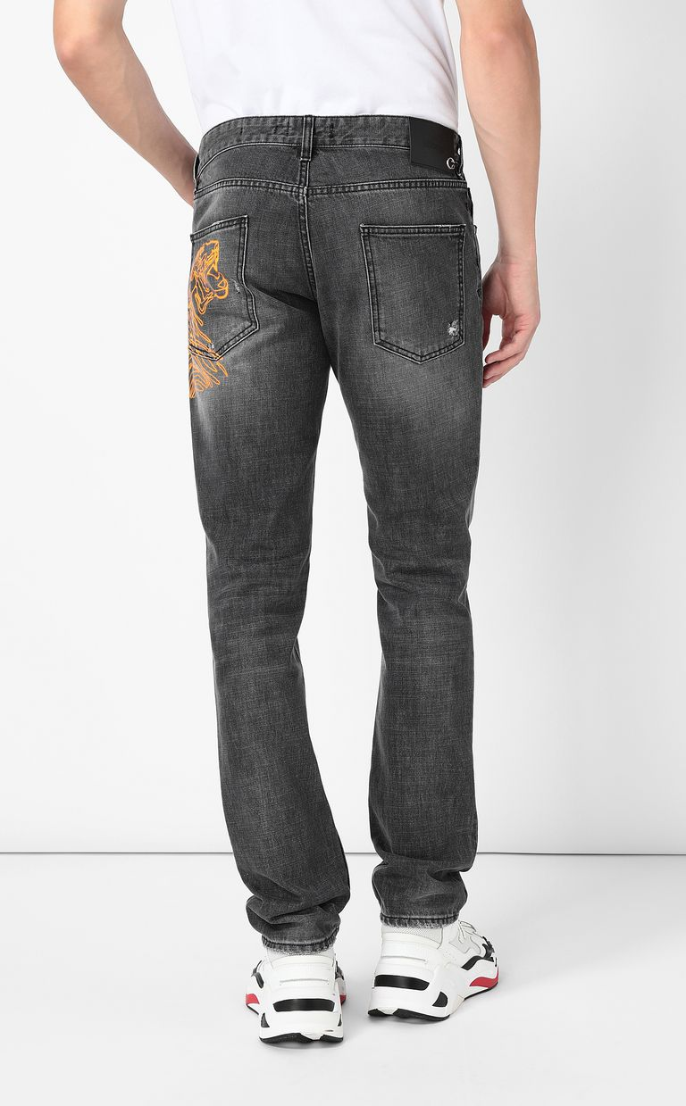 JUST CAVALLI Tiger jeans with a Just Fit Jeans Man a