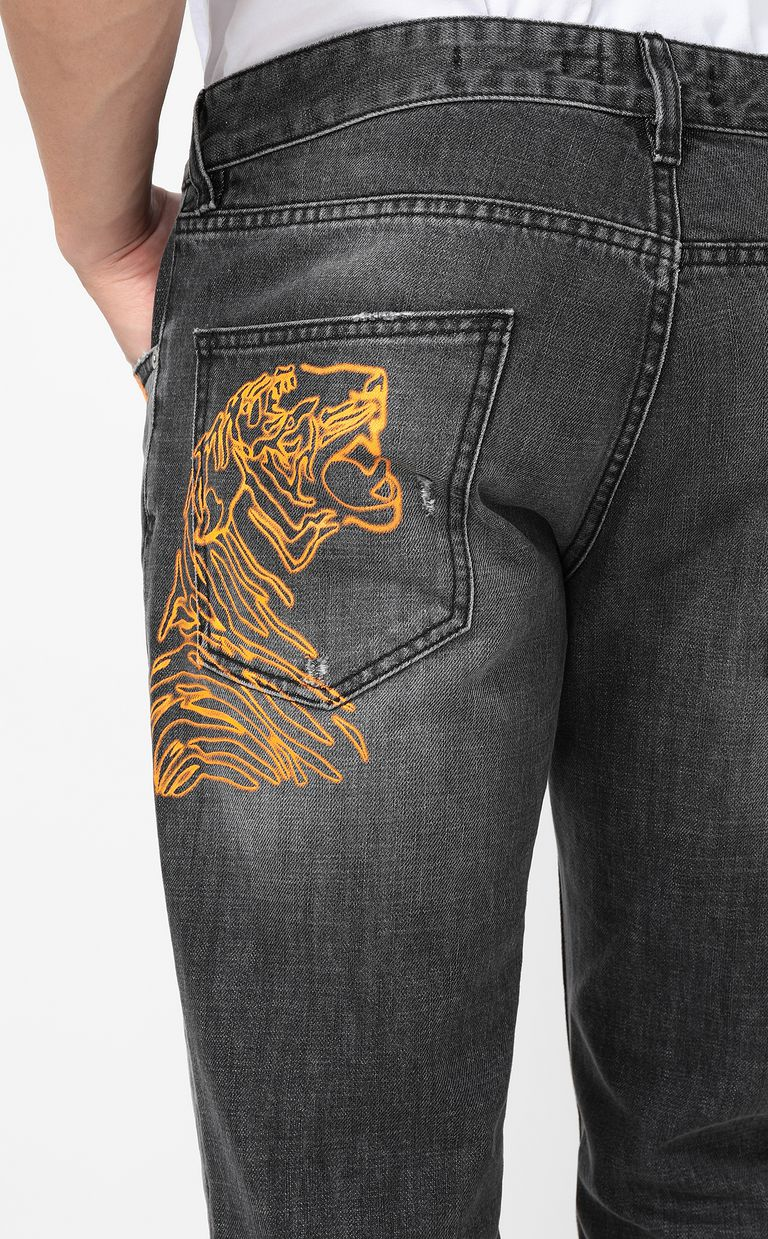 JUST CAVALLI Tiger jeans with a Just Fit Jeans Man e