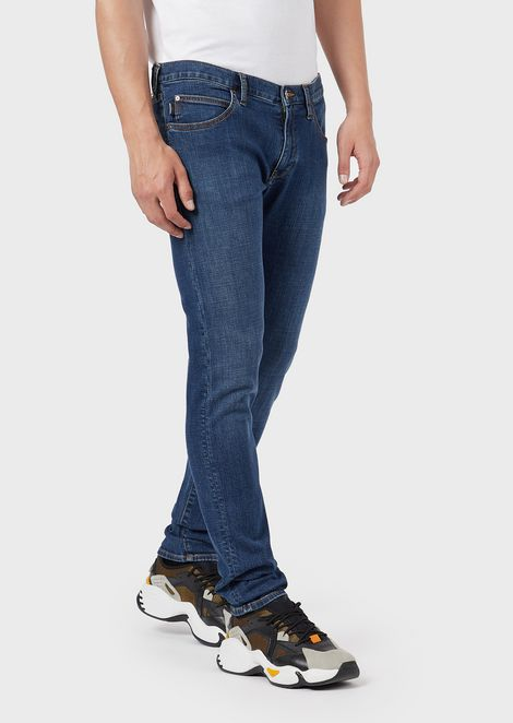 Extra-slim J10 jeans in faded comfort denim