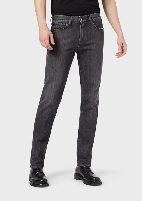 Jeans regular fit denim 11 oz lavato in capo con mano soft