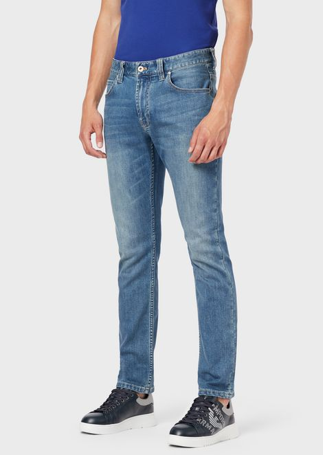 Regular-fit J15 jeans in comfort cotton twill