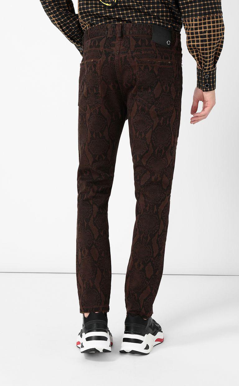 JUST CAVALLI Gabber-fit python-print jeans Jeans Man a