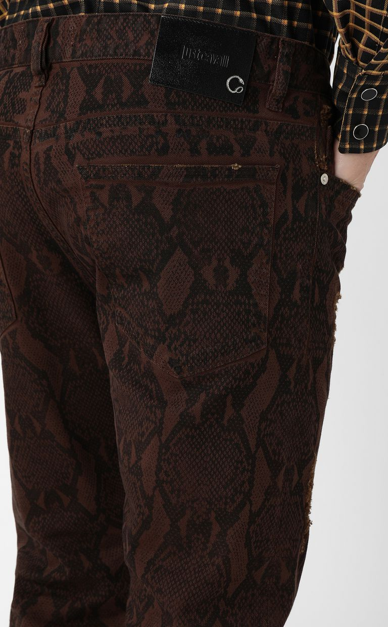 JUST CAVALLI Gabber-fit python-print jeans Jeans Man e