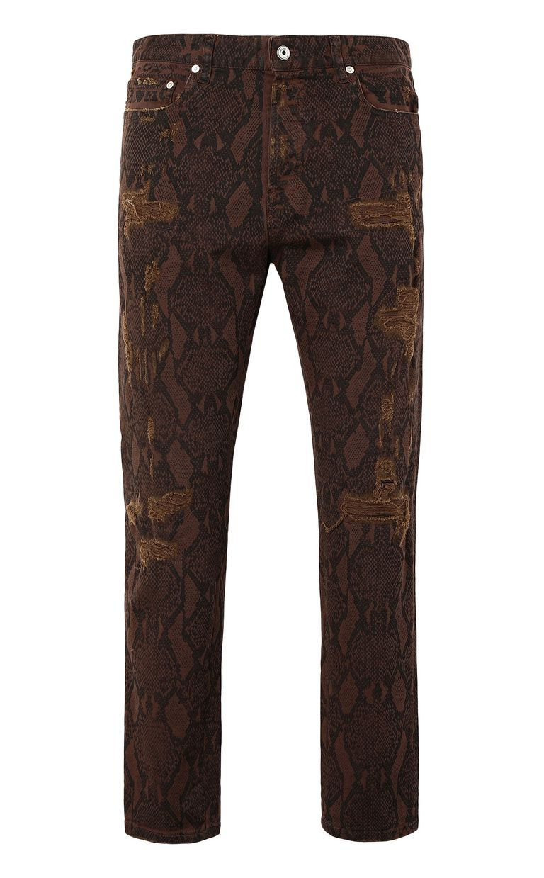 JUST CAVALLI Gabber-fit python-print jeans Jeans Man f