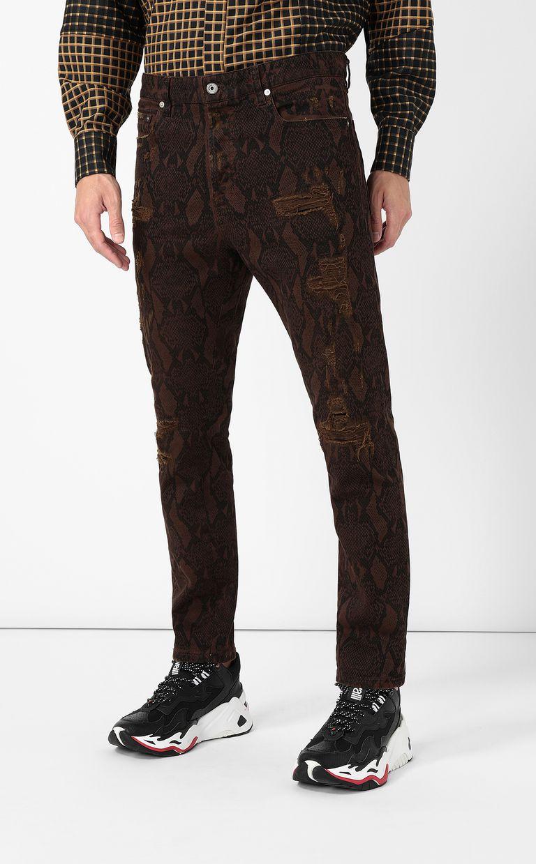 JUST CAVALLI Gabber-fit python-print jeans Jeans Man r