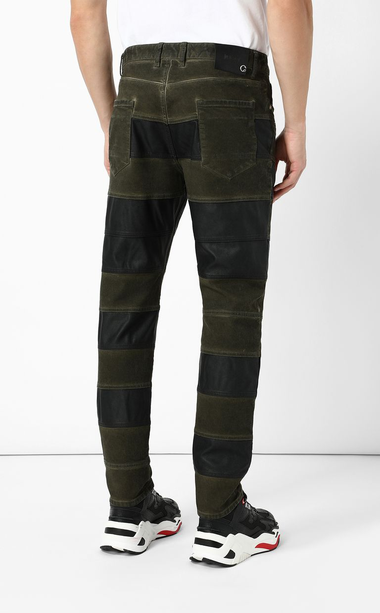 JUST CAVALLI Boy-fit biker jeans Casual pants Man a