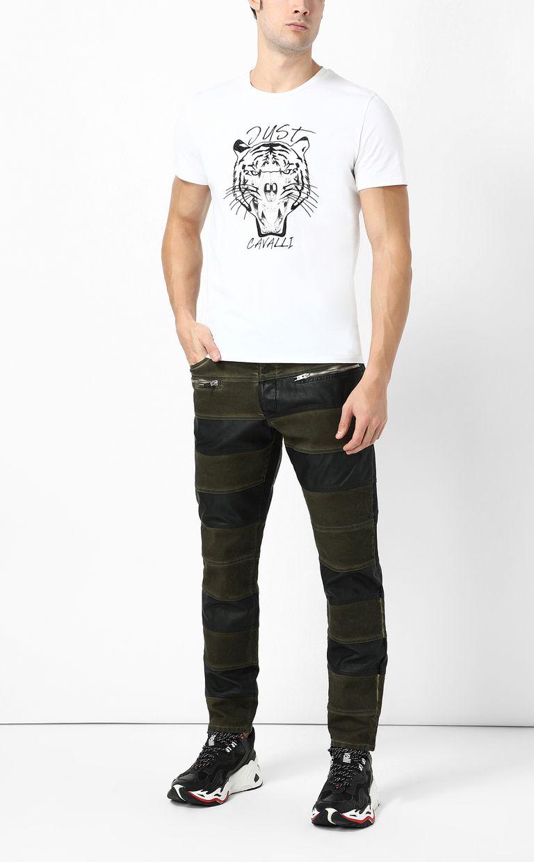 JUST CAVALLI Boy-fit biker jeans Casual pants Man d