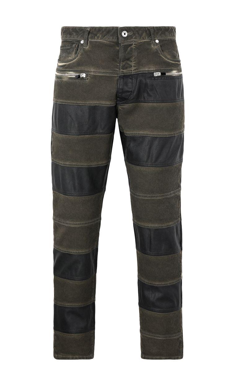 JUST CAVALLI Boy-fit biker jeans Casual pants Man f