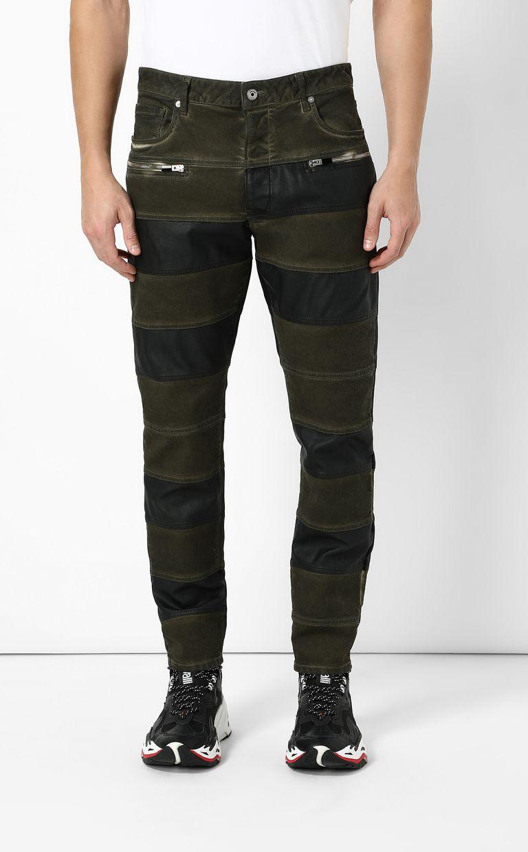 JUST CAVALLI Boy-fit biker jeans Casual pants Man r