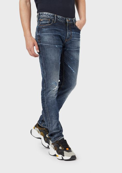 Slim-fit J06 jeans in comfort cotton twill