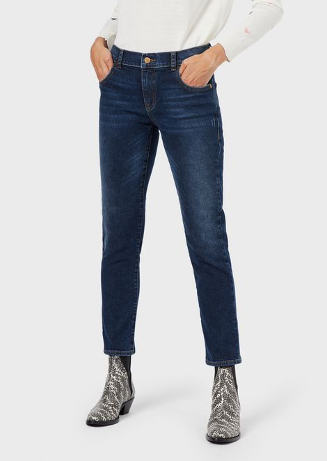 Stretch denim J36 straight-slim fit jeans