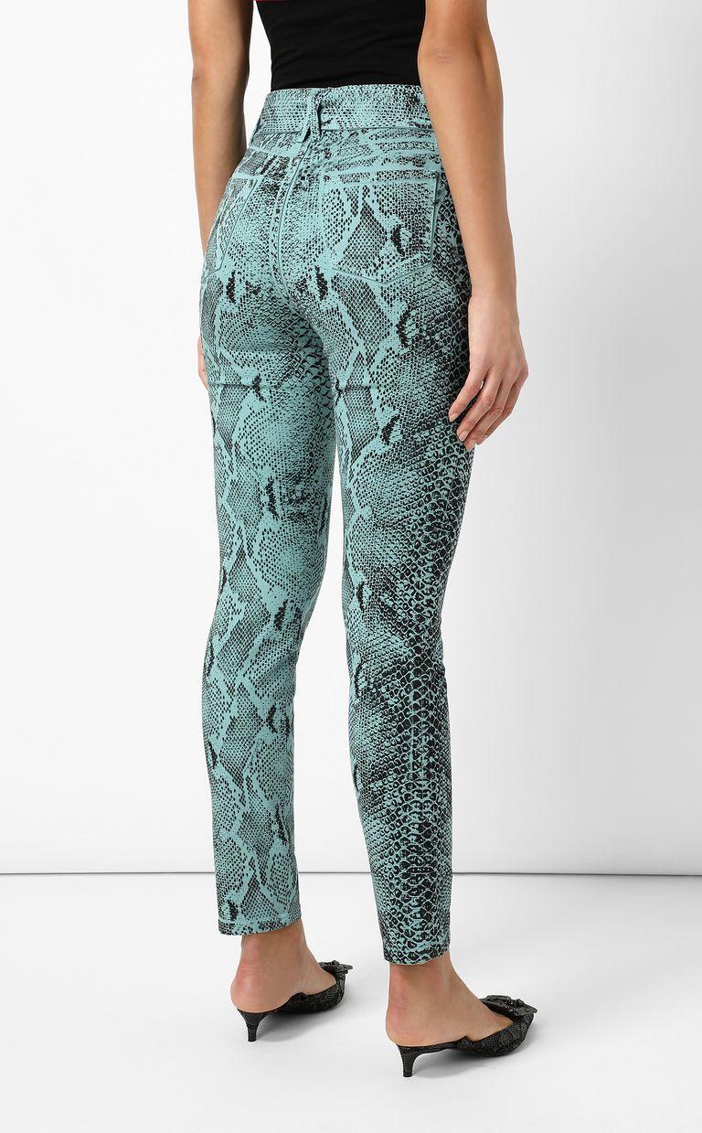 JUST CAVALLI Skinny-fit python-print jeans Jeans Woman a