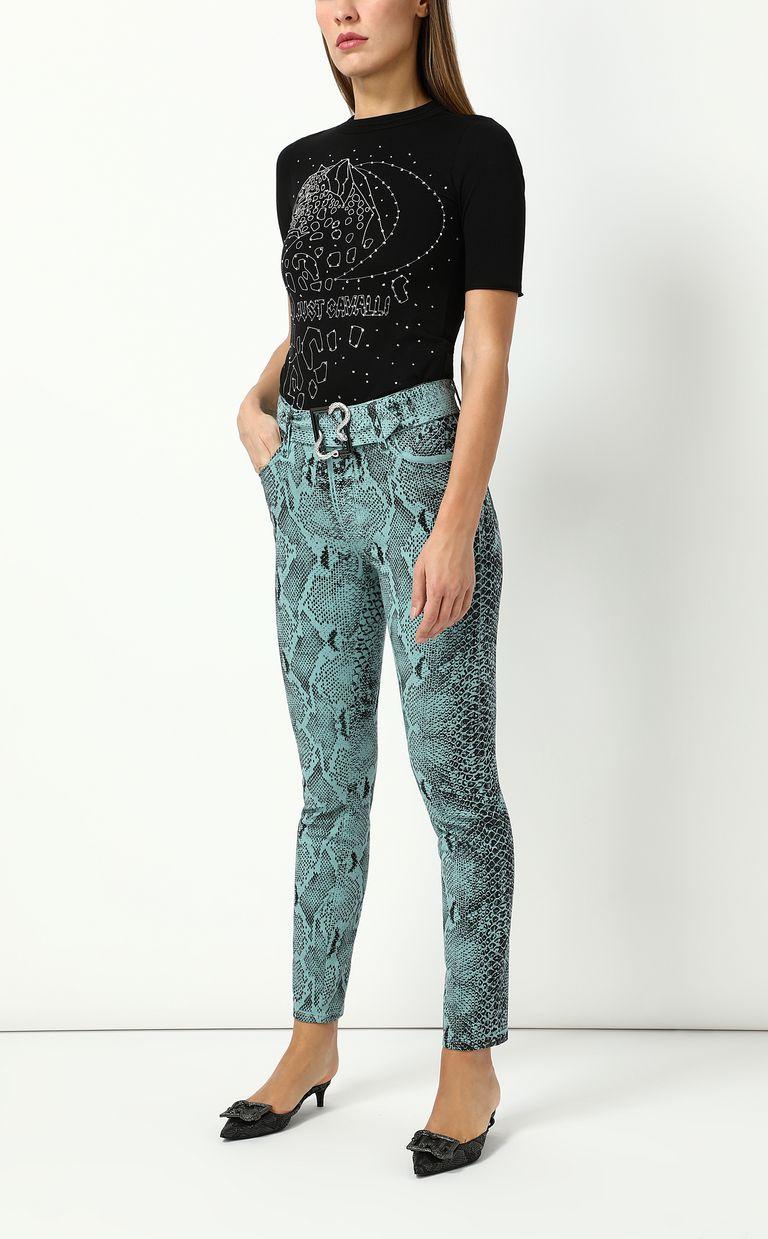JUST CAVALLI Skinny-fit python-print jeans Jeans Woman d