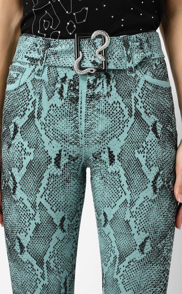 JUST CAVALLI Skinny-fit python-print jeans Jeans Woman e