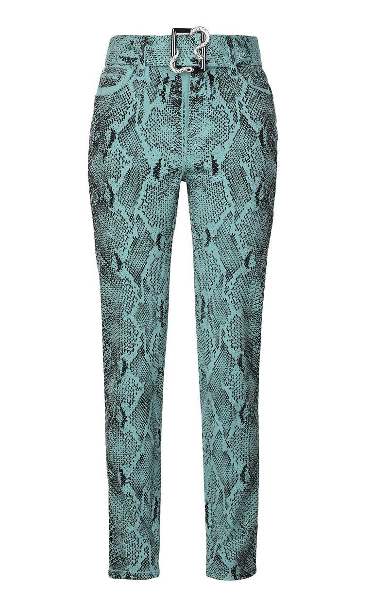 JUST CAVALLI Skinny-fit python-print jeans Jeans Woman f