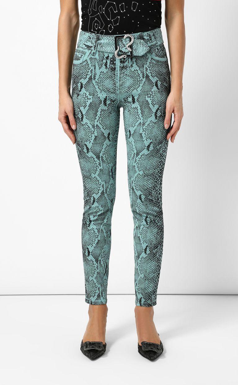 JUST CAVALLI Skinny-fit python-print jeans Jeans Woman r